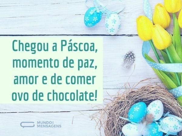 mensagens de Páscoa para crianças comer ovos