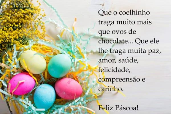 mensagens de Páscoa para crianças ovos coloridos