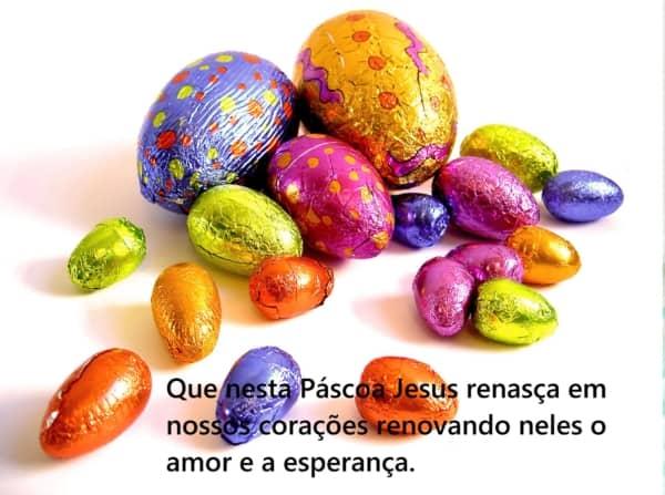 mensagens de Páscoa para crianças ovos lindos