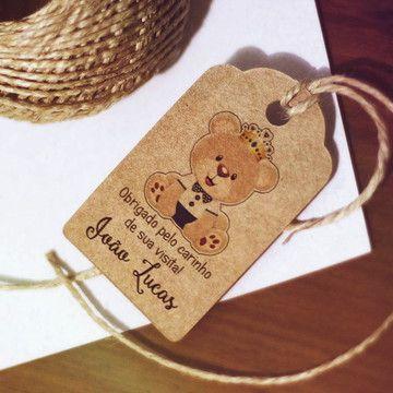 tag lembrancinha maternidade de ursinho