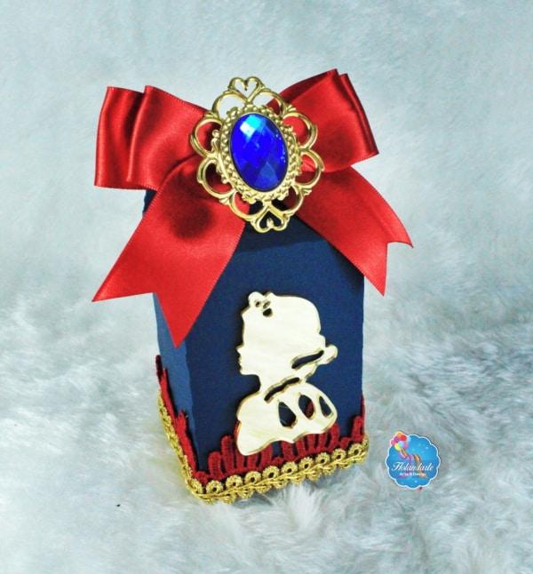 caixinha Branca de Neve para festa de luxo