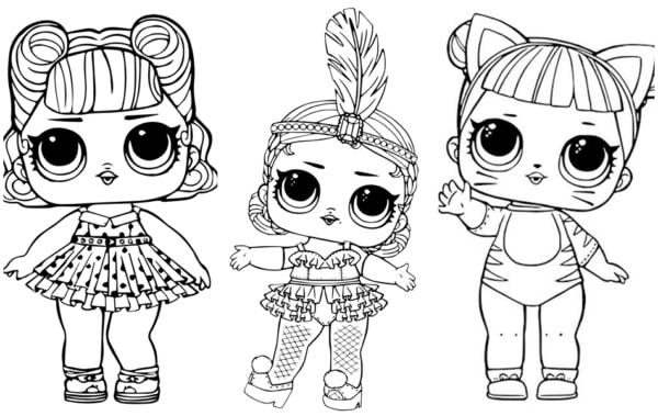 desenhos da LOL surprise para colorir