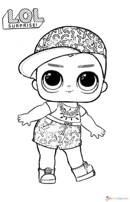 desenho da boneca LOL surprise