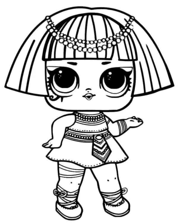 desenho da boneca LOL