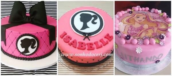 ideias de bolo de pasta americana da Barbie