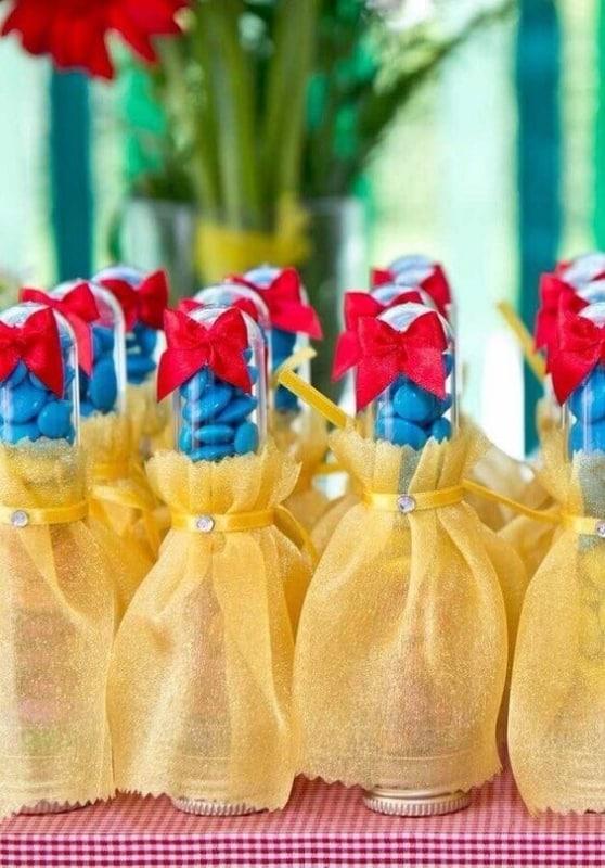 tubetes decorados para festa Branca de Neve