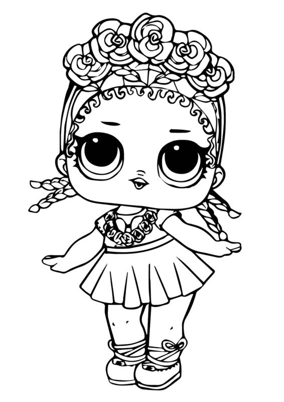 desenho para pintar e colorir de bonequinha da LOL