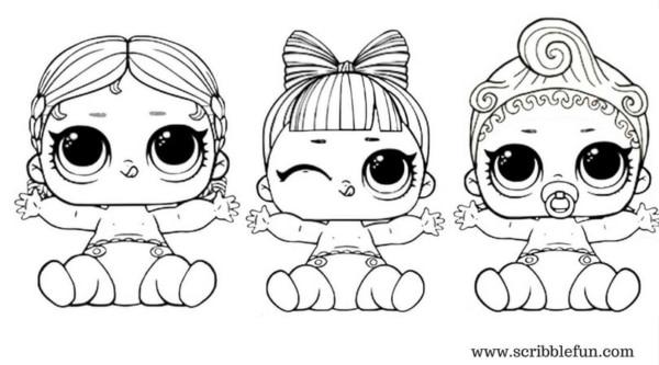 desenhos LOL baby para pintar