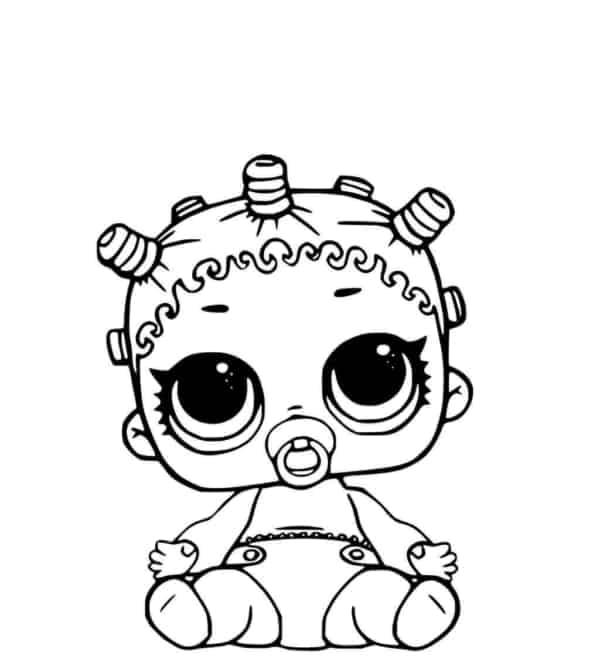 desenho para pintar da LOL baby