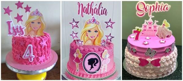 ideias de bolo da Barbie princesa