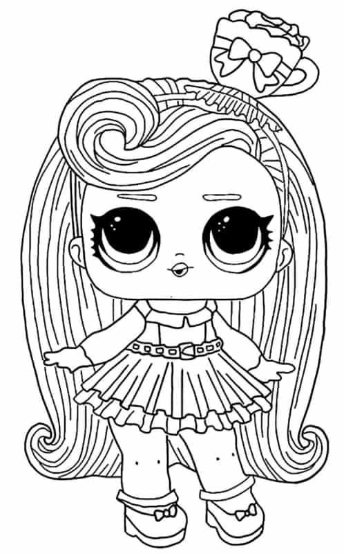 desenho da LOL com cabelo comprido
