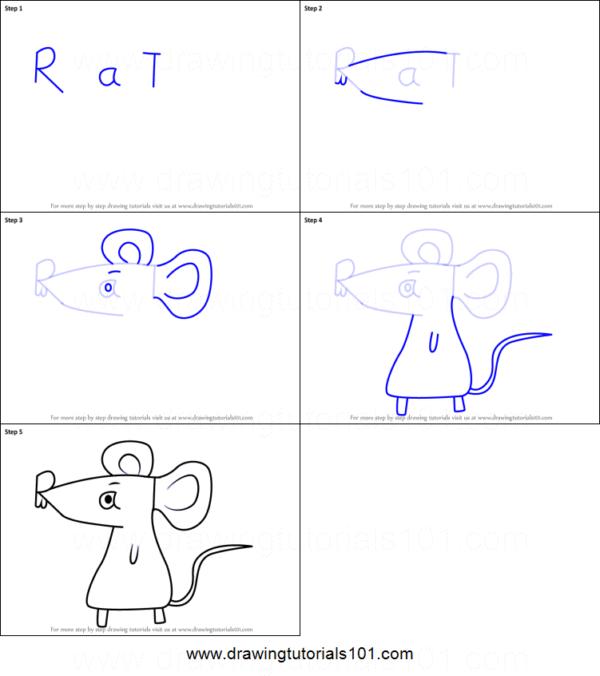 como fazer desenho simples e fácil de rato