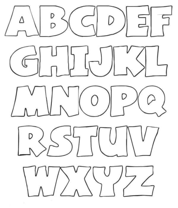 Alfabeto completo para impressão