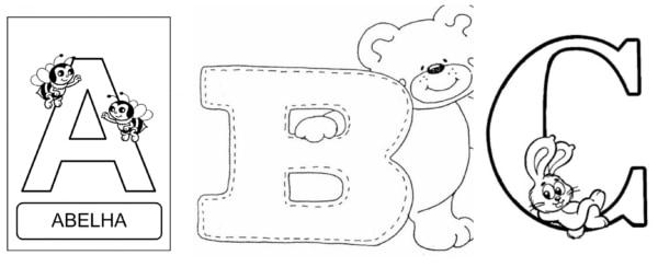 Alfabeto para colorir 3