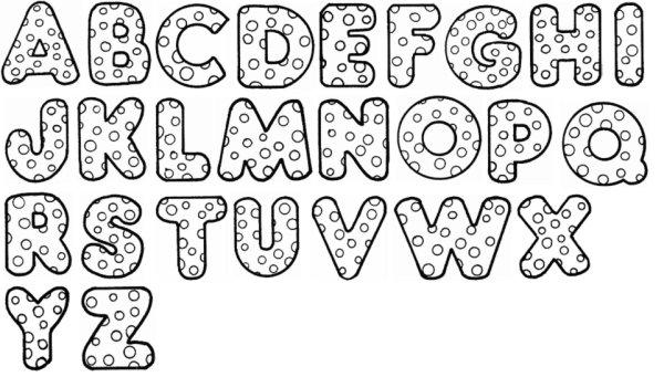 Alfabeto para colorir com bolinhas