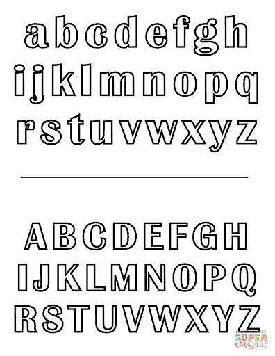 Alfabeto para colorir com letras maiusculas e minusculas
