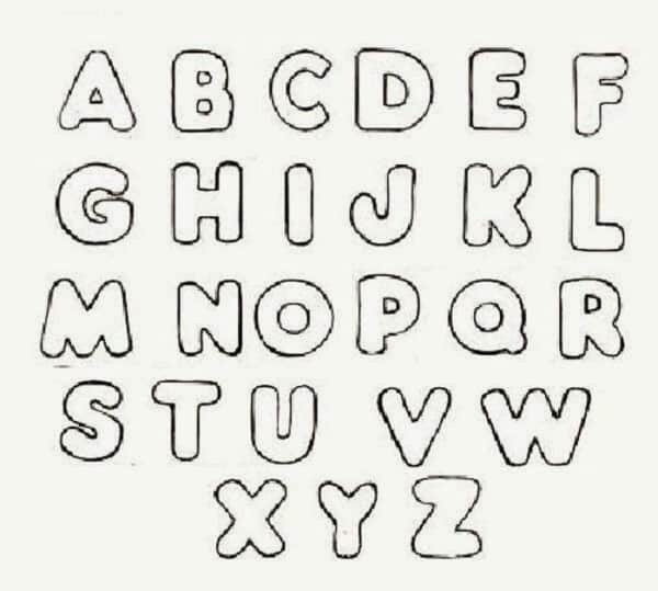 Alfabeto para colorir com todas as vinte e seis letras