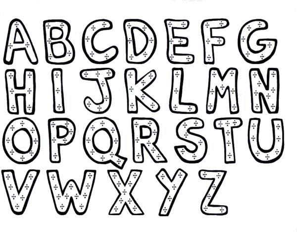 Alfabeto para colorir completo de A até Z