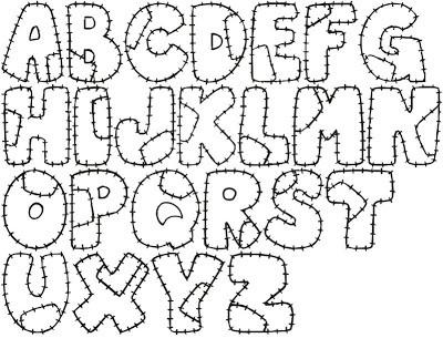 Alfabeto para colorir personalizado