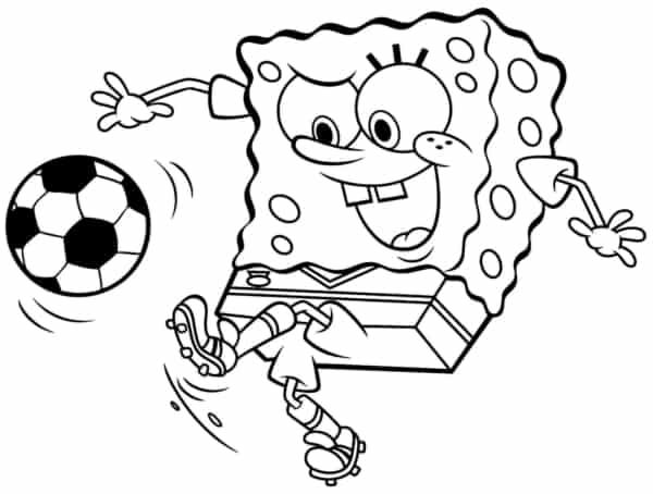 Bob Esponja jogando bola