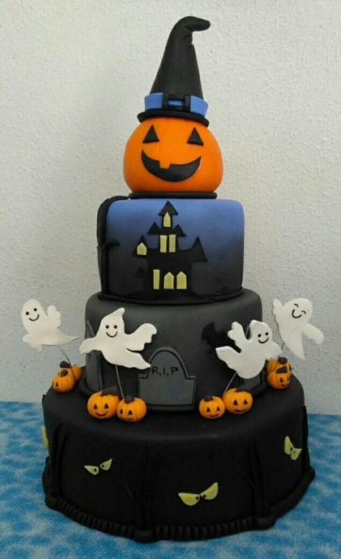 Bolo mesversário Halloween grande