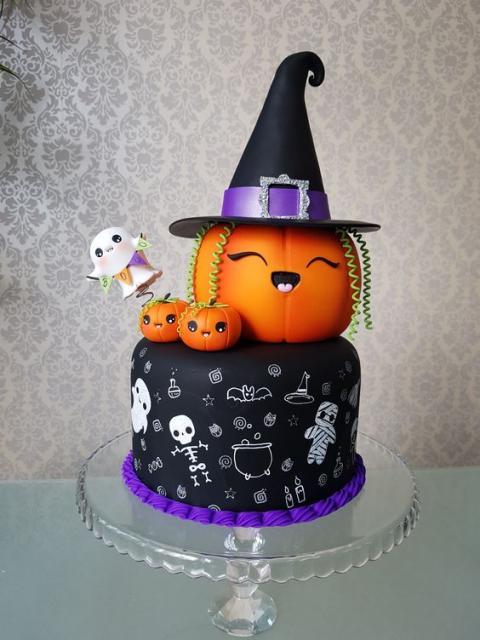 Bolo mesversário Halloween