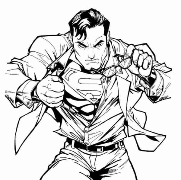 Clark Kent para colorir