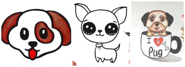 Como desenhar cachorro 1