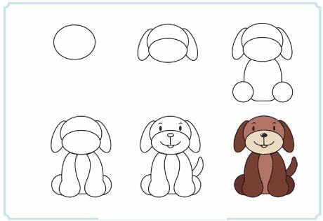 Como desenhar um cachorro de maneira simples