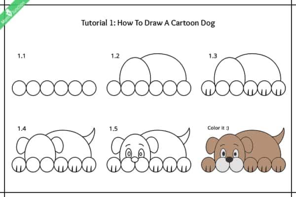 Como desenhar um cachorro deitado