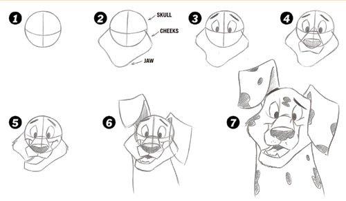 Desenhando um Dalmata em sete passos