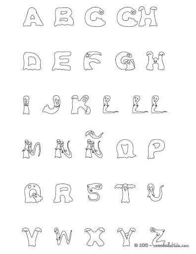 Divertido alfabeto para colorir