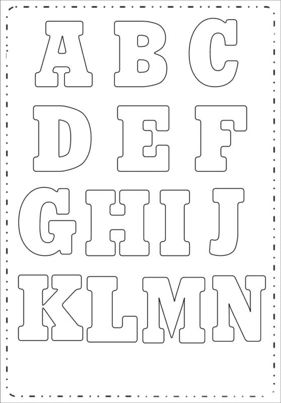 Letras de A até N para colorir