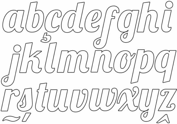 Outro tipo de fonte de alfabeto para colorir