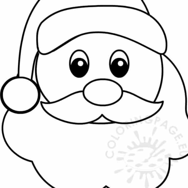 Papai Noel para pintar e colorir