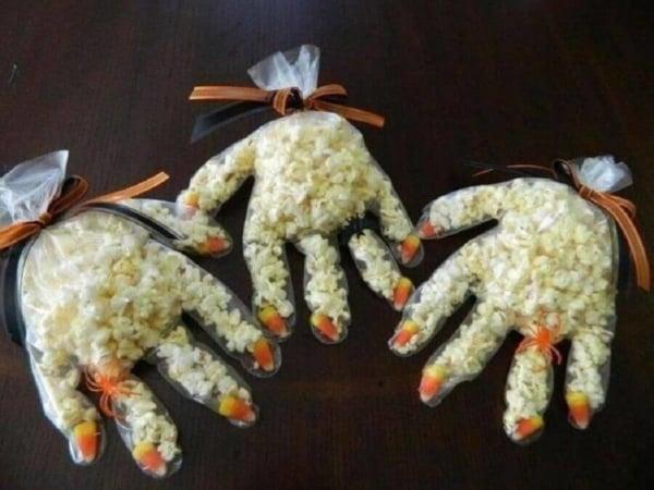 Saquinho de pipoca para Halloween