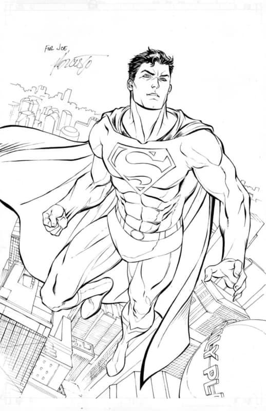 Superman completo para colorir