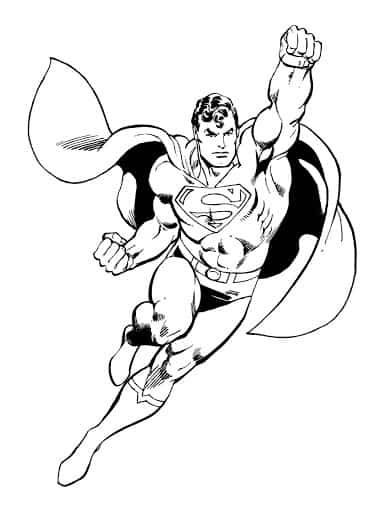 Superman para pintar passo a passo