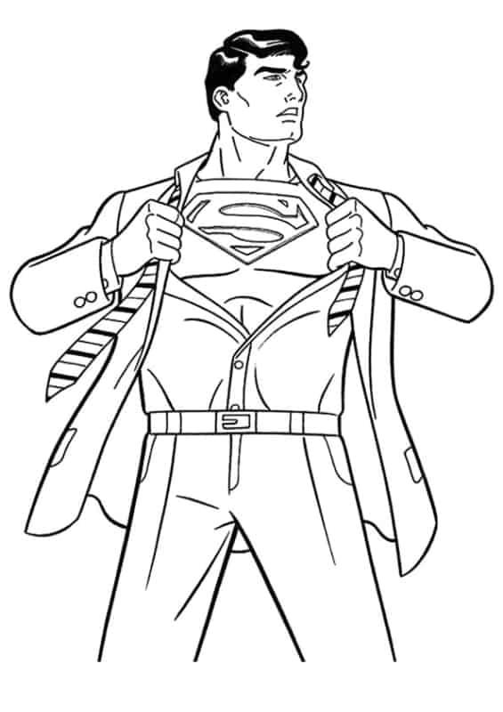 Superman para pintar