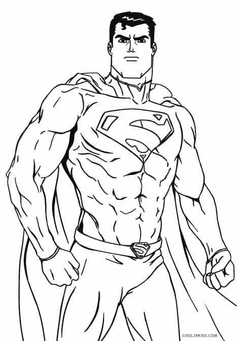 Superman poses