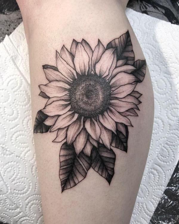 Tatuagem da flor de girassol