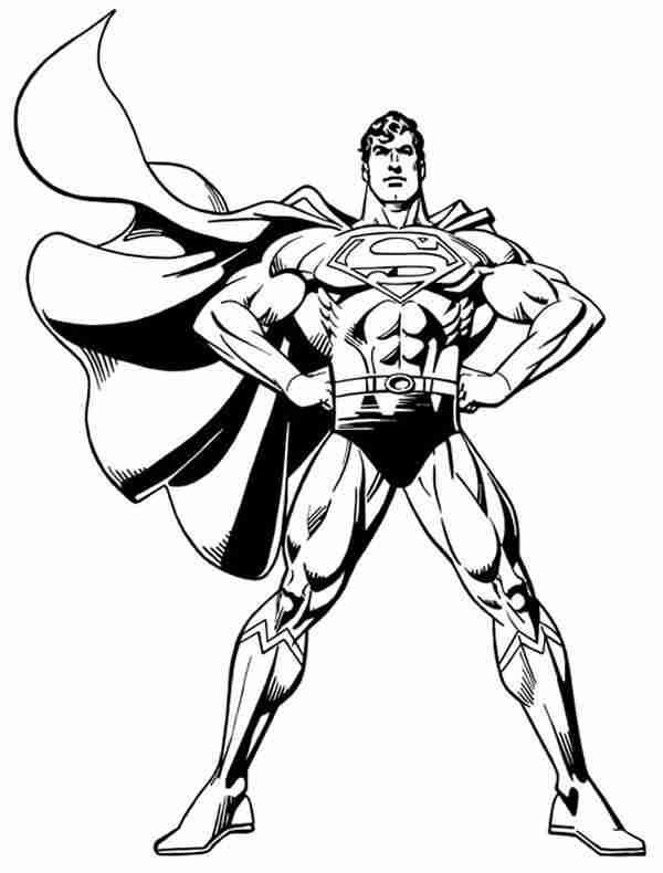 belo desenho do Superman para colorir