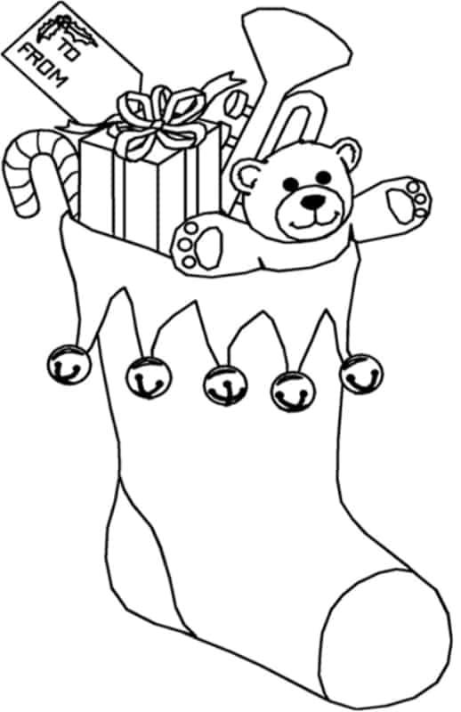 bota do Papai Noel com presentes