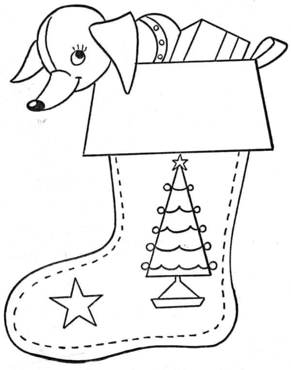 bota do Papai Noel para colorir