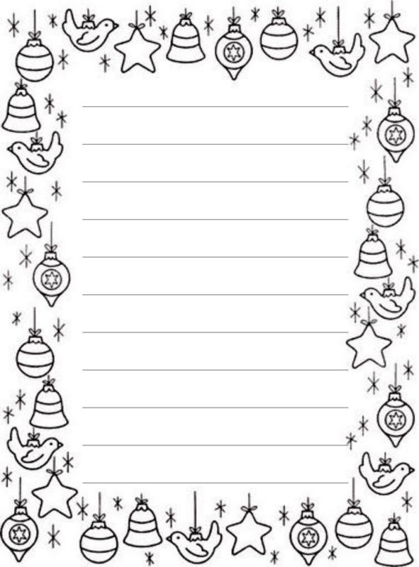 carta do Papai Noel decorada