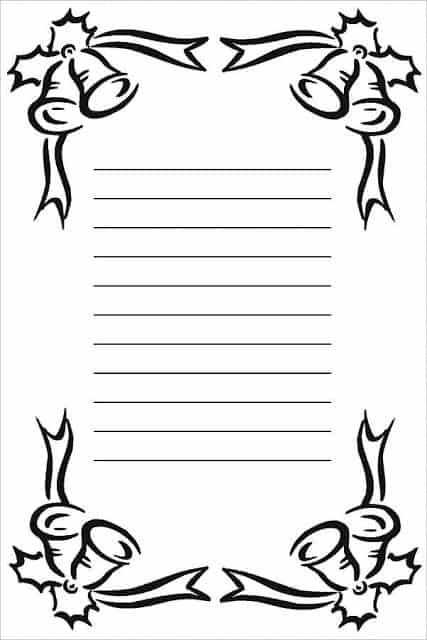 carta do Papai Noel para customizar
