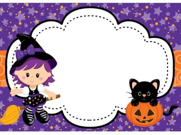 como fazer convite Halloween