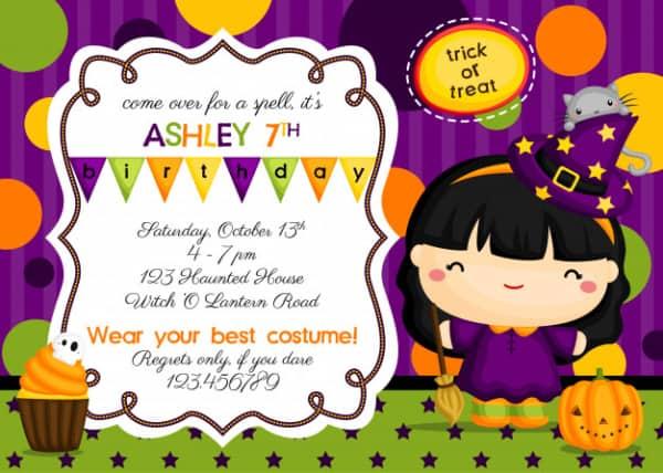 convite Halloween divertido