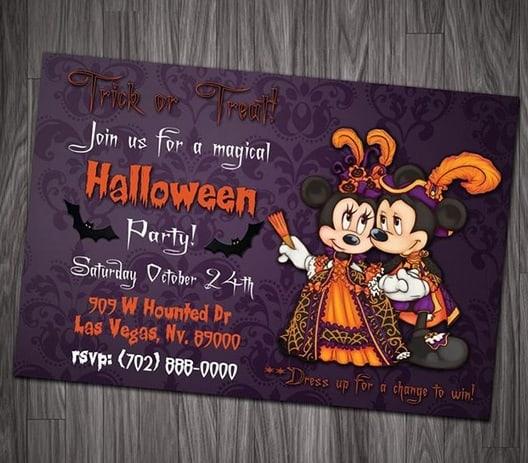 convite Halloween mickey