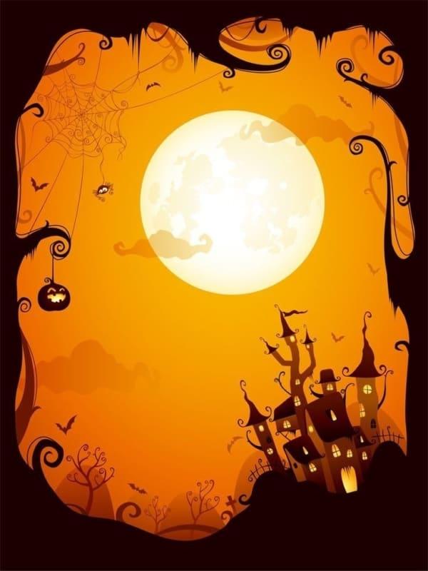 convite Halloween moldes